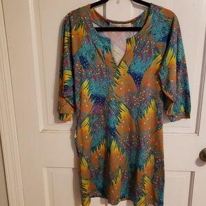 Tracy Negoshian XS feather dress
